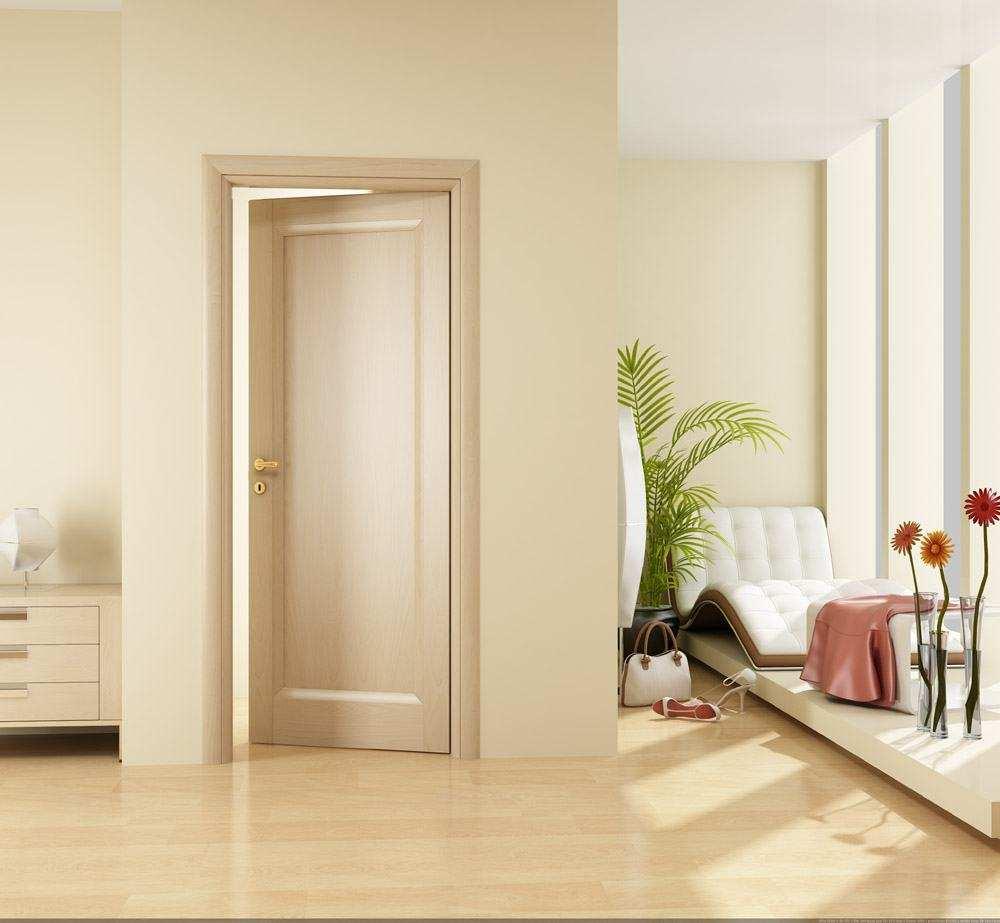 Межкомнатные двери светлые в интерьере квартиры фото